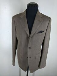 Dunhill New Made In Italy Rare Silk And Wool Blazer 3 Btn Center Vent 38 Reg