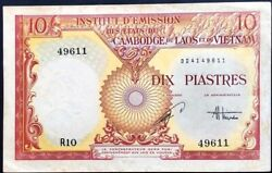 French Indochina 10 Piastres 1953 P.107