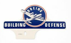 License Plate Topper- Boeing Building Defense B-17 Home Front Ww Ii Off-0110