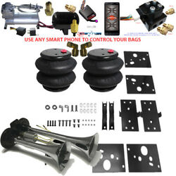 B Air Leveling Tow Kit 2500 Ram 2014-2019 No Drill Bluetooth Controller And Horn