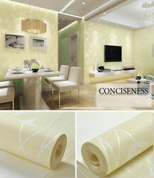 Beige Damask Wallpaper Branch Pattern Non Woven Self Adhesive Contact Paper
