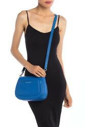NWT Marc Jacobs Empire City Mini Messenger Leather Crossbody Bag $325 ULTRA BLUE $139.99