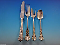 Memory Lane By Lunt Sterling Silver Flatware Set 8 Service 34 Pieces