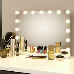23quot;L Hollywood Makeup Vanity Mirror with Light Stage Large Beauty Mirror White