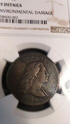 1794 Flowing Hair Large Cent Ngc Vf Details - 2750 In Ngc Price Guide For Vf