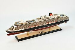 Ms Queen Victoria Cunard Line Wooden Ship Model 33 Scale 1/350 Led Lights