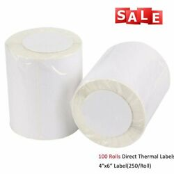 100 Roll Of 250 4x6 Direct Thermal Shipping Labels - Zebra Eltron 2844 Zp450 Ups