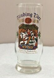 Binding Bier Beer Glass Smaller White Horse And Rider 6h