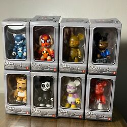 Qee - Toy2r - Brooklyn Edition 2 - Complete Set Of 8 - 2,5 - Street Kidrobot