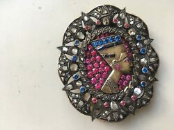 Egyptian revival diamond brooch