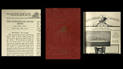 John O'hara's First Separately Published Work The Kungsholm Cruise News / 1st Ed