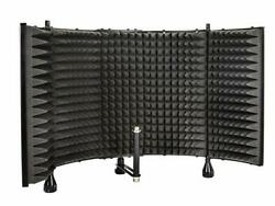 Monoprice Microphone Isolation Shield - Black - Foldable With 3/8 Mic Threaded