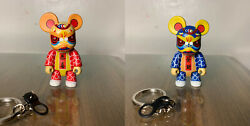 Qee - Toy2r - Red Lion + Blue Lion - Complete Set Of 2 - 2003 - Alec Ling