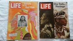 2 Life Magazines Our Indian Heritage 1971, And Return Of The Red Man 1967