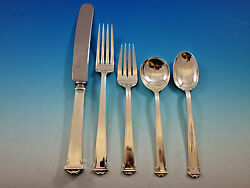 Theseum By International Sterling Silver Flatware Set Service 33 Pieces