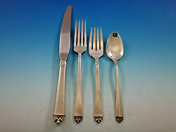 Satin Beauty By Oneida Sterling Silver Flatware Set Service 28 Pieces