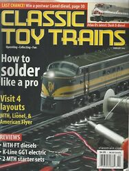 Classic Toy Trains Feb 2002 How To Solder Like A Pro/ K-line Gg1 Electricg723