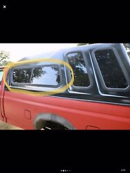 A.r.e Pickup Truck Bed Cap Topper Shell Driver Sliding Window + Frame And Screen