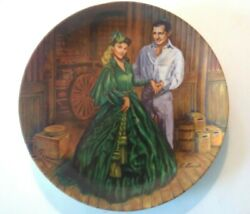 Gone With The Wind Scarlett O'hara Bradford Exchange Collectible Plate New