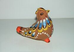 Very Rare Vintage Ussr Collection Figurine Dymkovo Clay Toy Whistle / Folk Art