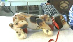 Rare Old Vintage Original Fisher Price Snoopy Sniffer 181 13 1/4 Long 1961