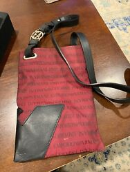 Emporio Armani Crossbody Canvas and Leather Preowned $12.00