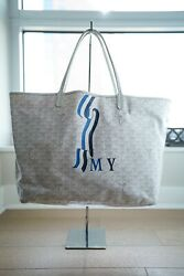 Goyard St Louis White Tote Bag GM with Banierre Design Monogram $2777 wExtras