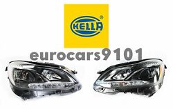 New Hella Pair Set Of Left And Right Led Headlights 011066651 011066661