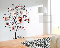 Fashion Warm Family Removable Photo Frame Tree Wall Sticker Home Art Decoration
