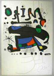 Joan Miro Lithograph Composition Sheet Limited F/s Last One From Japan