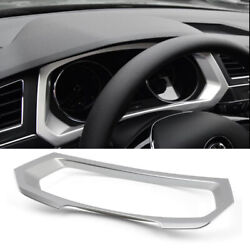 Car Abs Console Steering Wheel Dashboard Frame Cover Trim For Lhd Tiguan 2017