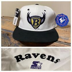 Vintage Baltimore Ravens Football Snapback Hat Starter NWT NOS blockhead Rare DS