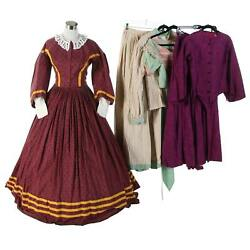 A Collection Of Reenactment Civil War Day Dresses And Hoop Skirt Cosplay