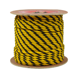 Cwc 3-strand Polypropylene Rope - 1/4 X 600and039 Yellow And Black