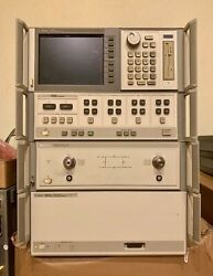Hp 8510c Hp 85107b Vector Network Analyzer 45mhz To 50ghz With Opt-10 Lcd Dis