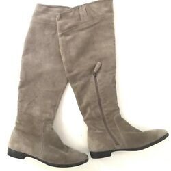 Franco Fortini Womenand039s Tan Suede Knee High Boots Taupe Size 7 M Susanna 122472
