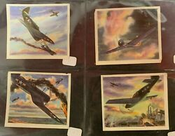 Lot Of 4 1940 Wwii Coca Cola Fighter Plane Navy Army Air Force Advertising Cards