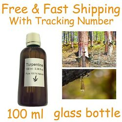 Turpentine 100ml Natural Pure Gum Spirits Glass Bottle Dropper Without Additives