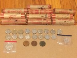 Coin Collection Lot Over 5 Lincoln Wheat Cents 1913-s Proof Dimes 2009 S Canada