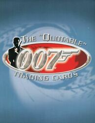 James Bond The Quotable James Bond Collector Card Album W/ Costume And Promo