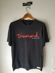 Diamond Supply Co. Vintage Tee Shirt Sz L Sun Faded Preowned Condition