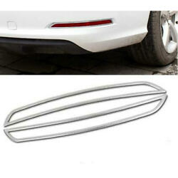 Car Stainless Steel Rear Fog Lamps Cover Trim For Audi A3 2012-2015