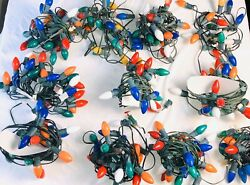 12 Strands -255 Vintage Noma Lite Set Outdoor Christmas Lights And Extra Bulbs