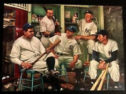 New York Yankees Legends Card Babe Ruth Gehrig Derek Jeter Mantle DiMaggio