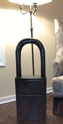 Vintage Taylor Padlock Display/ Advertising/ Double Sided Advertisement, Old