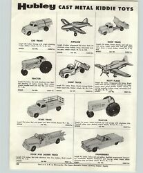 1957 Paper Ad 4 Pg Hubley Toy Trucks Tractor Farm Navy Bomber Andy Gard Mg Auto