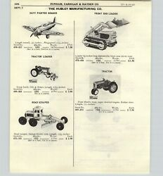 1965 Paper Ad 4 Pg Hubley Toy Trucks Front End Loader Tractor Road Scraper Ford