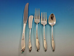 Wishing Star By Wallace Sterling Silver Flatware Set For 8 Service 44 Pieces