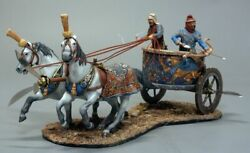 Painted Tin Toy Soldier Persian War Chariot Top Level 54mm 1/32