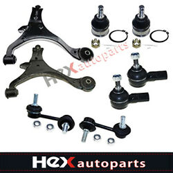8pc Control Arm Ball Joints Sway Bars Tie Rods For 2001-2005 Civic Acura El